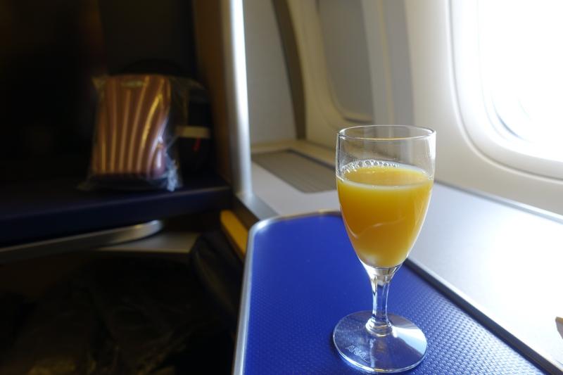 Pre-Flight Drink, ANA First Class Review