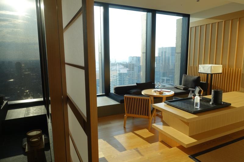 Aman Tokyo Bathroom Separated by Shoji Doors