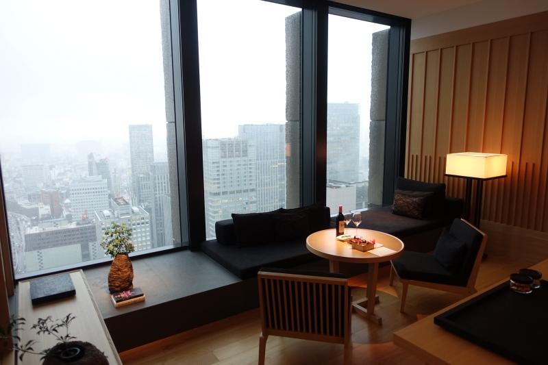 Living Area, Premier Room, Aman Tokyo Review