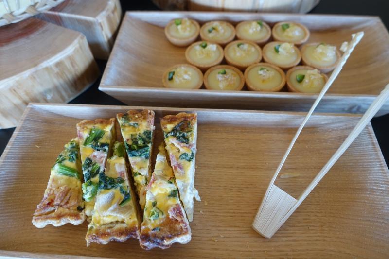 Amanemu Afternoon Tea: Quiche and Lemon Tartlets