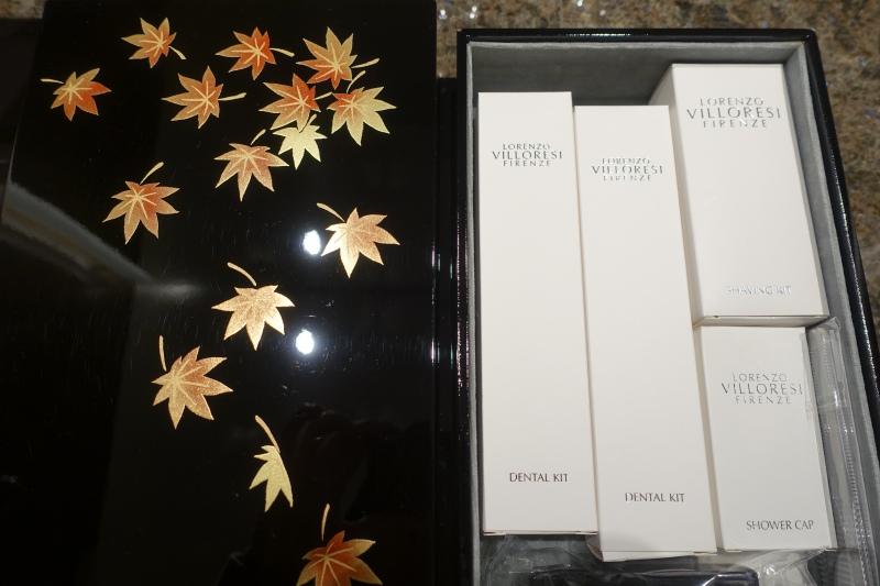 Lorenzo Villoresi Toiletries in Laquer Box, Four Seasons Kyoto