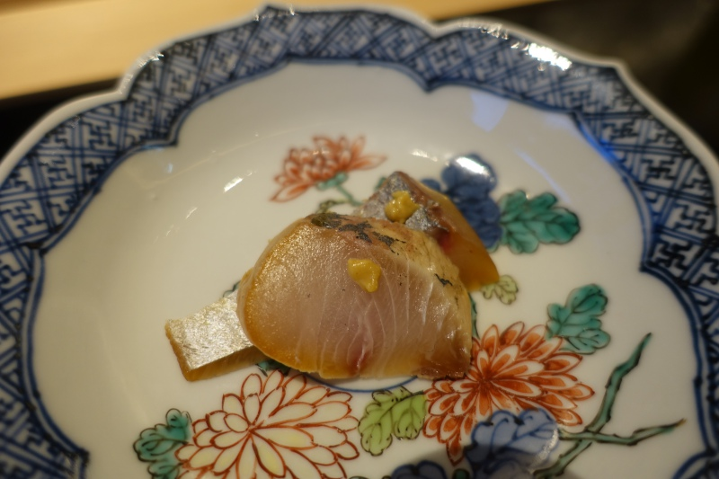 Striped Jack with Japanese Mustard, Sushi Wakon Review