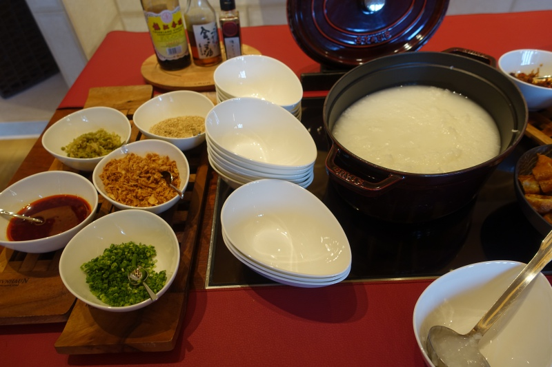 Congee and Condiments, Four Seasons Kyoto Breakfast Buffet