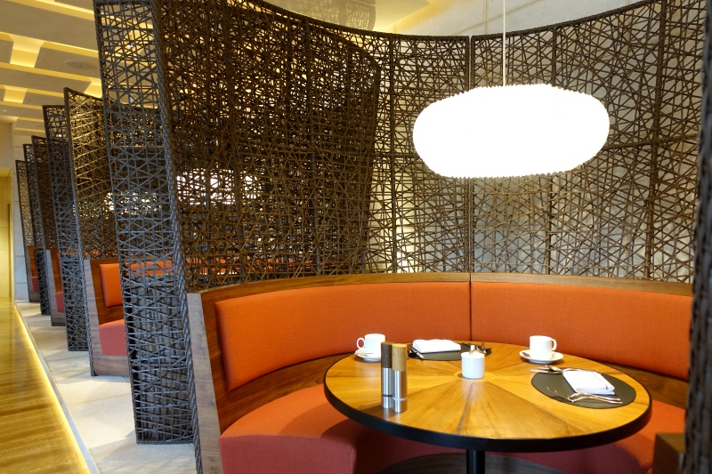 Banquette Seating, Brasserie at Four Seasons Kyoto Review