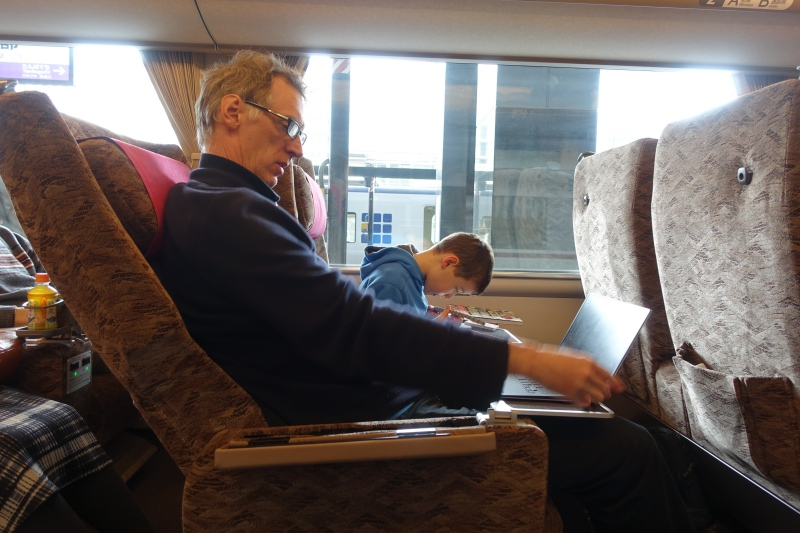 Green Car Seat, Train to Kinosaki Onsen
