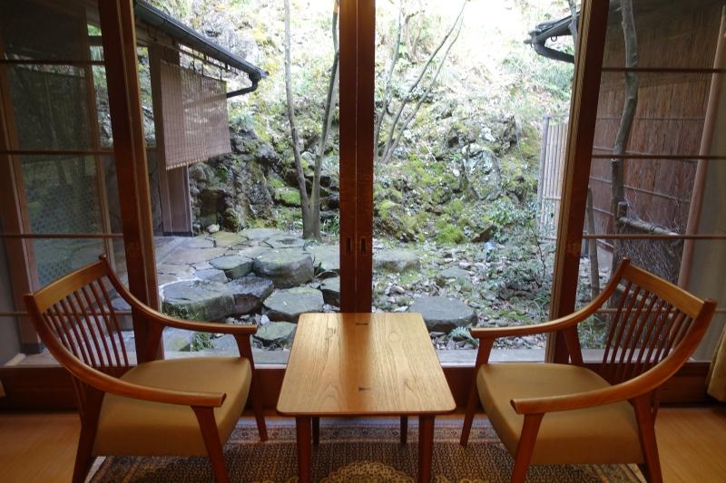 Hatsune Room Seating by Window, Nishimuraya Honkan