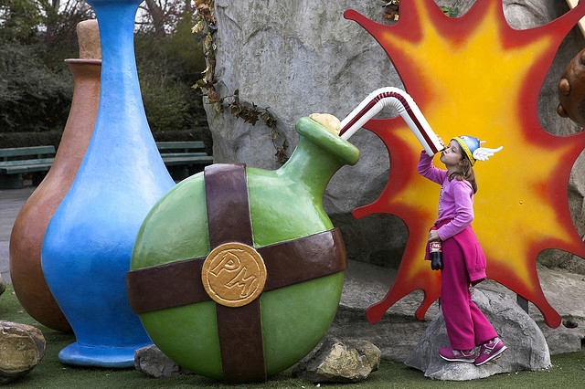 Clowning around at Parc Asterix, Paris with Kids