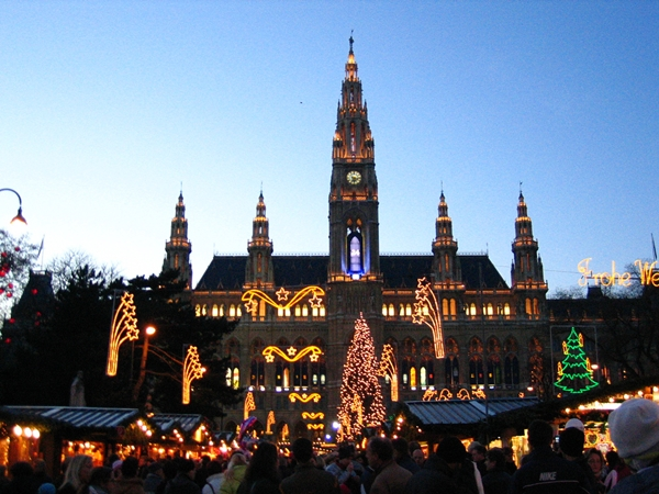 Christmas Market and Rathaus, Vienna