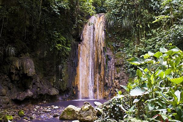 Diamond Falls, Diamond Falls Botanical Gardens, St. Lucia