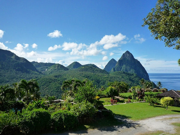 View from Haut Plantation Restaurant, Soufriere, St. Lucia