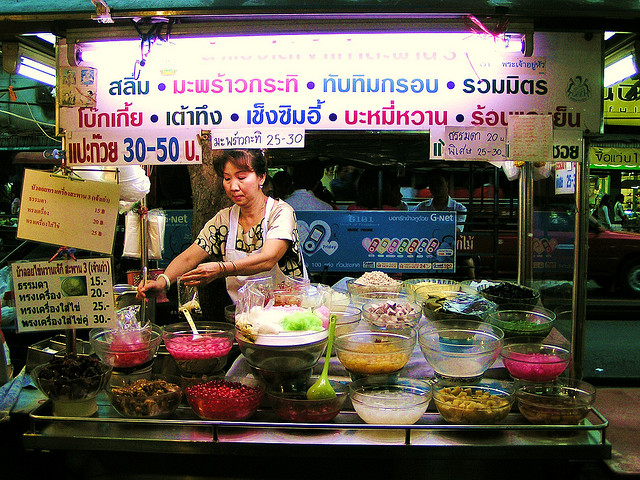 One of many spots to sample the taste of Bangkok