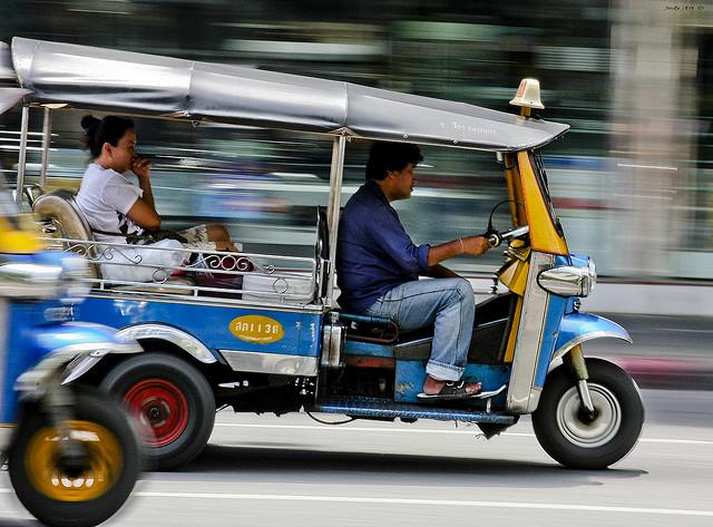 The adventure of a tuk tuk ride, Bangkok