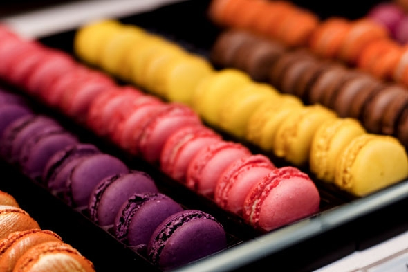 Macarons at Fauchon, Paris France