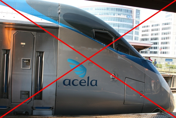 "Overpriced for what it is: Acela ""Express"""