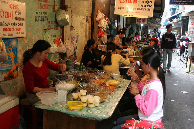 Don't miss the chance to experience street dining while in Hanoi