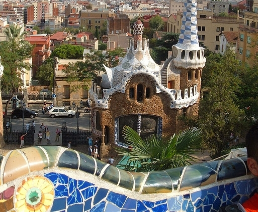 Gaudi's Parc Guell, Barcelona Spain