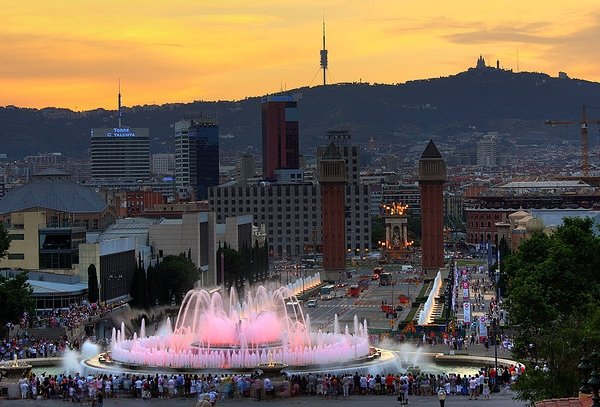 Magic Montjuic Fountain, Barcelona Spain