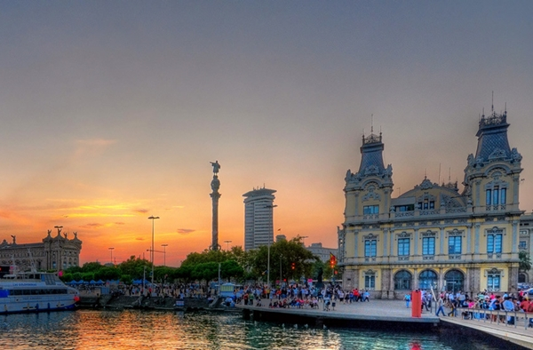Port Vell Sunset, Barcelona Spain