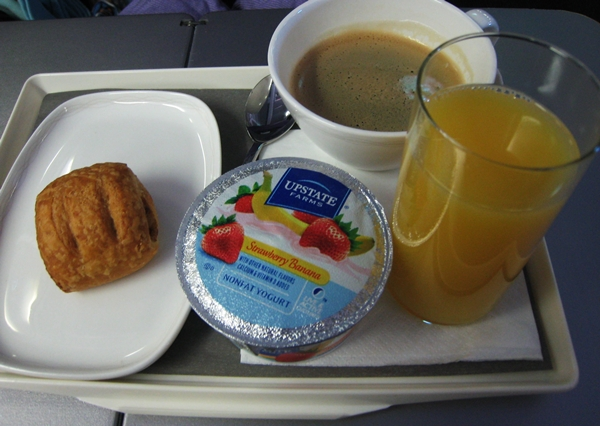 "OpenSkies ""breakfast"" - at least the coffee was good"