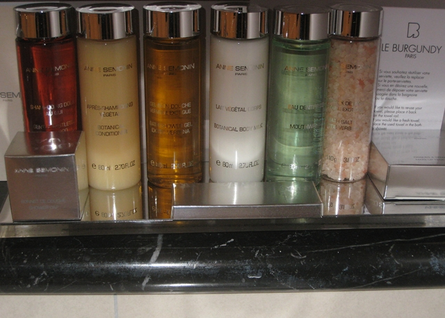 Bath amenities-Le Burgundy