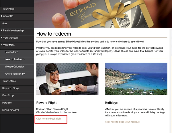 "Use AA Miles for Etihad First Class-Select ""Click here to book flight"""