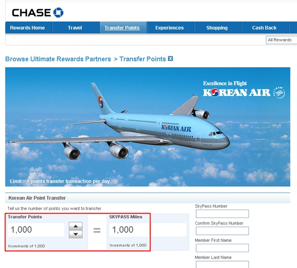 Should You Use Chase Ultimate Rewards Points to Book Korean Air Skypass Awards?