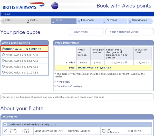 Maximizing british airways avios fly aer lingus to europe for Cost of plane ticket to germany