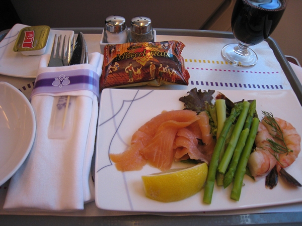 Thai airways business class review travelsort for Air thai cuisine