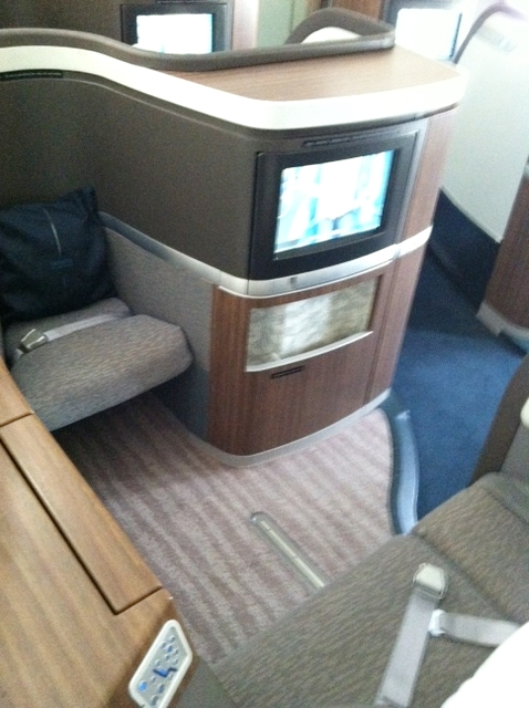 Cathay Pacific First Class Suite-Leg Room