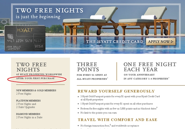 Hyatt Visa Offer Change-Last Chance for No Minimum Spend