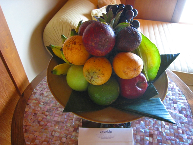 Amankila Ocean Suite Review, Bali - Fruit Welcome Amenity