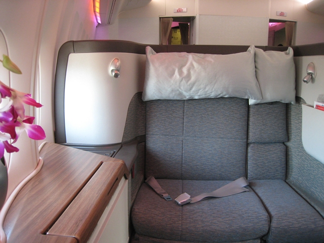 Cathay Pacific First Class Bali to Hong Kong - First Class Seat