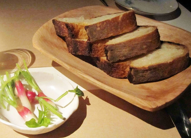 abc kitchen menu nyc restaurant review bread and radishes