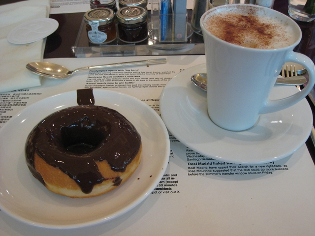 Langham Place Mongkok Review - Doughnut and Cappuccino