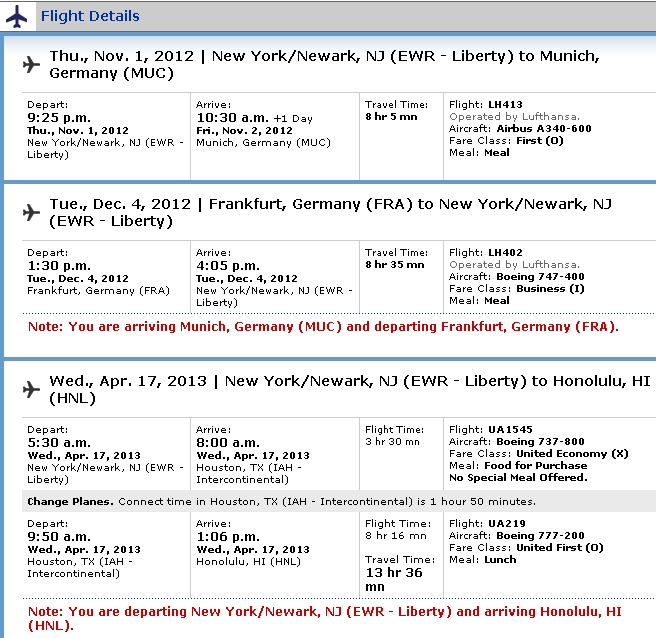 United Free One Way NYC - HNL 17,500 More