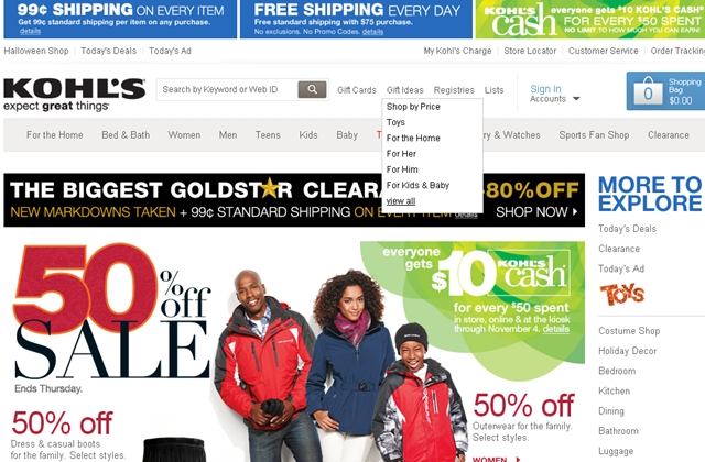 Kohl's 15X with Ultimate Rewards Mall and Chase Freedom