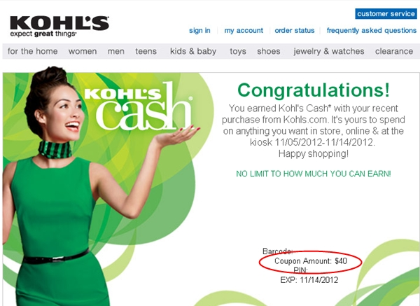 Kohl's 15X and 20% Kohl's Cash