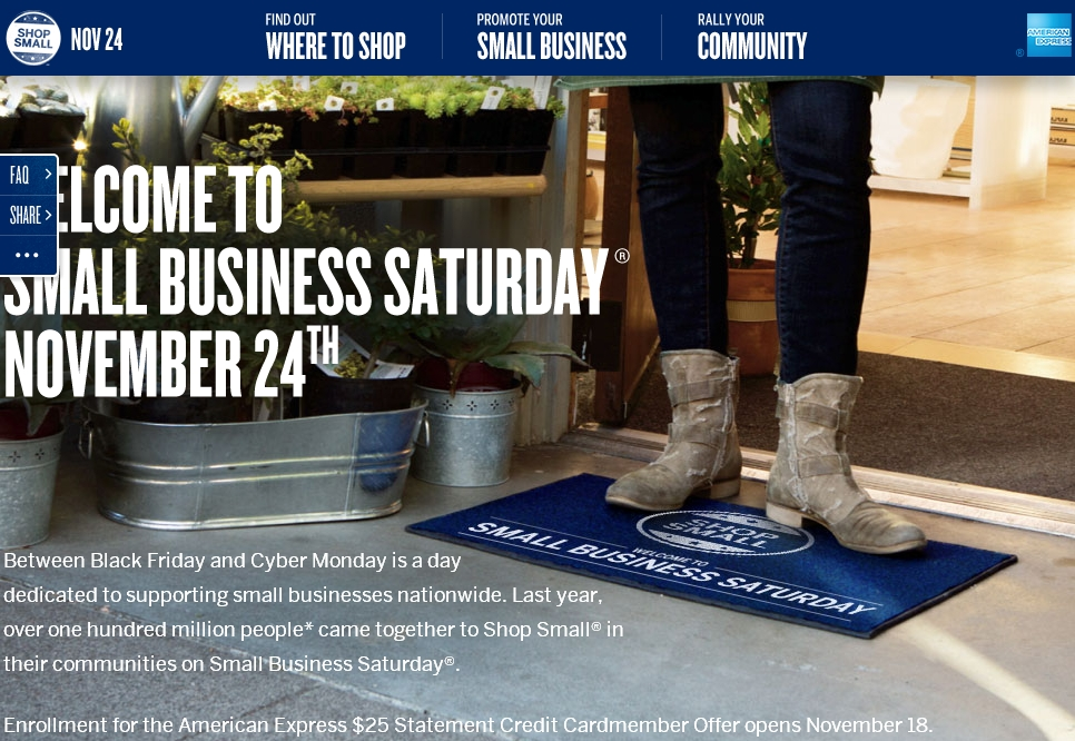 AMEX Small Business Saturday 2012