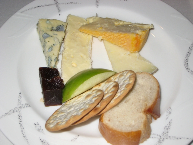 Cathay Pacific First Class Review: Cheese and Fruit Plate