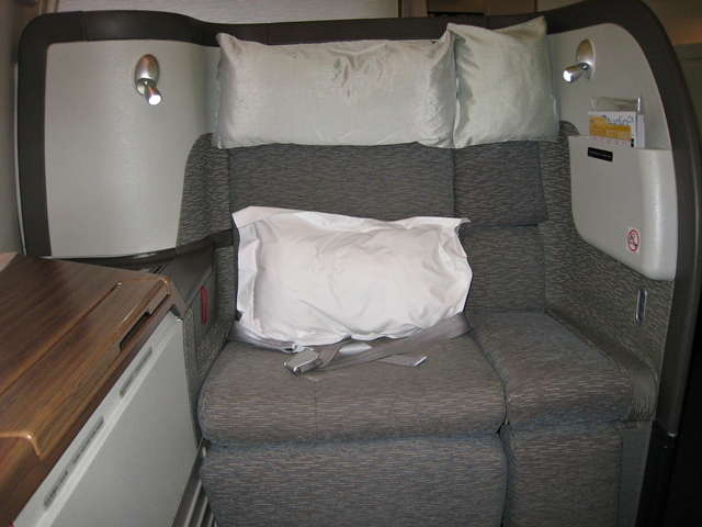 Cathay Pacific First Class Review - Extra Wide Seat