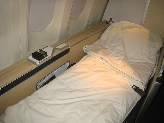 Lufthansa New First Class Review - Bed