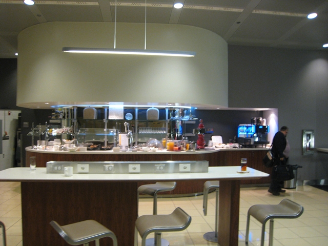 Lufthansa New First Class Review - Lufthansa Lounge at IAD