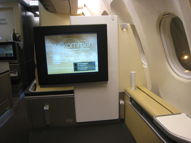 Lufthansa New First Class Review - Seat 2K