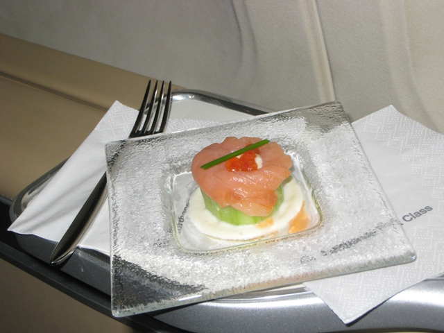 Lufthansa New First Class Review - Amuse Bouche