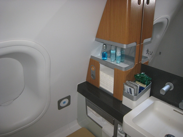 Lufthansa New First Class Review - Bathroom