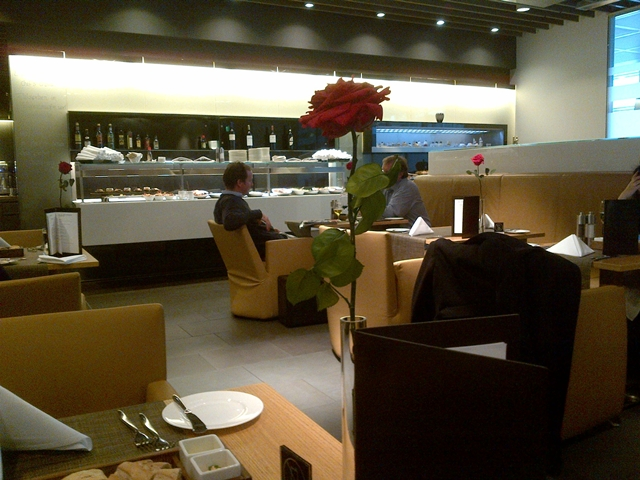 Lufthansa Munich First Class Lounge - Dining Room