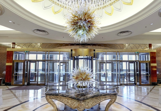 Lotte Hotel Moscow Review - Lobby and Chandelier