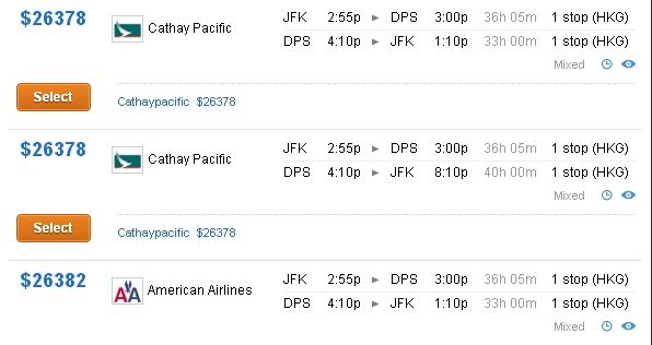 How Much is A Mile Worth? Value of American AAdvantage Mile - Cathay First Class to Bali