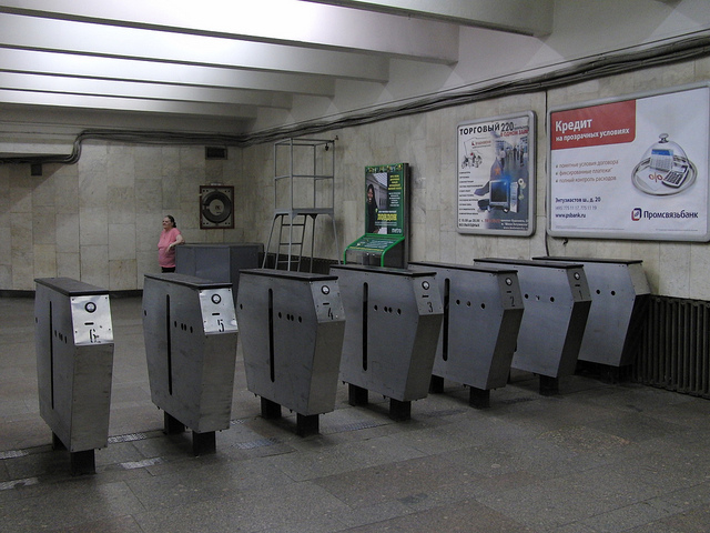 Getting Around Moscow by Metro-Top Tips-Turnstiles