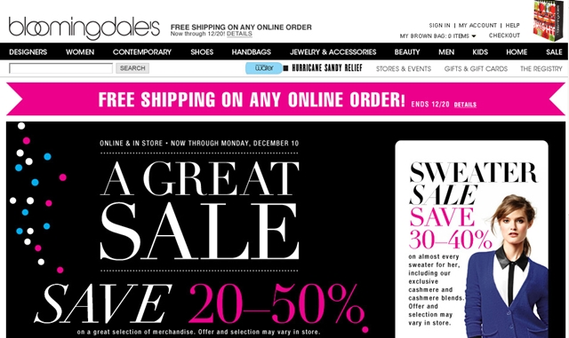 Top 10 Holiday Shopping Points Bonuses via Ultimate Rewards Mall - Bloomingdales 11X